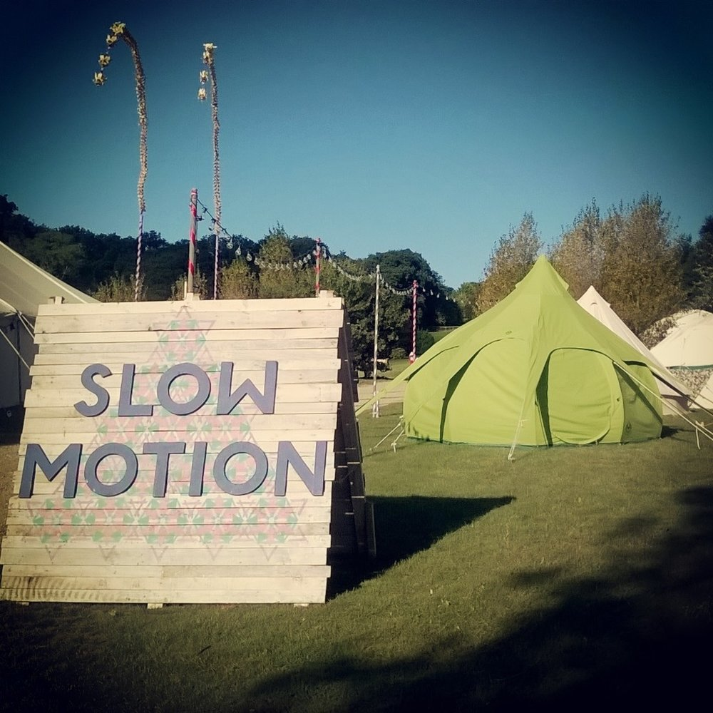Available for corporate hire-seen here at the Slow Motion area at Bestival 2016