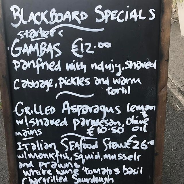 New Specials!!! #lovindublin @lucindasireland @irishtimesfood
