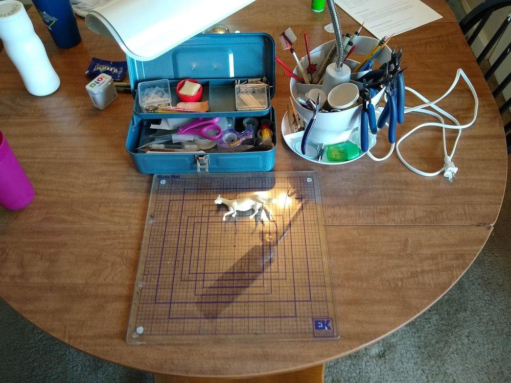 Workspace - kitchen table!