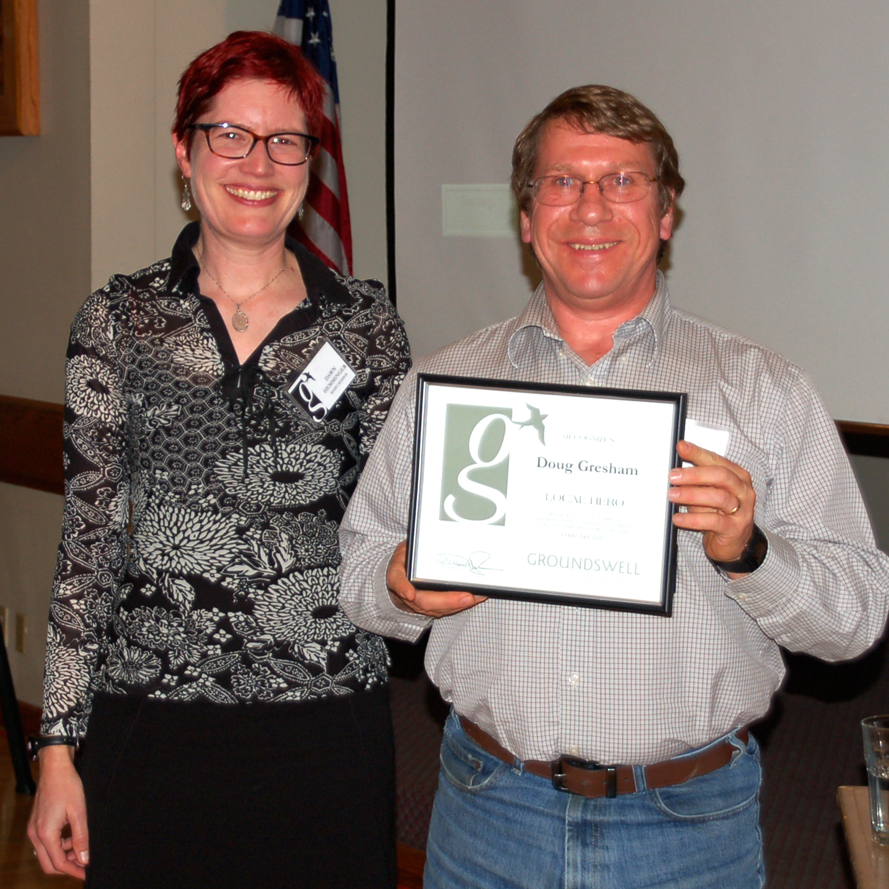 DAWN HEMMINGER, GNW President &  DOUG GRESHAM, 2015 Local Hero