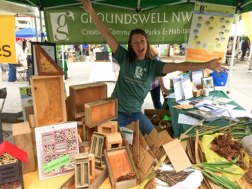 Groundswell NW Board Member Devon Shannon at Sustainable Ballard Festival, 2017