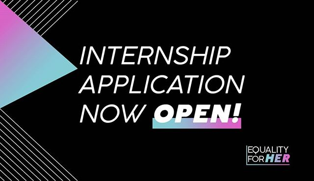 I don't know if yall heard, but the @EqualityForHer Internship Application is NOW LIVE!!! Apply by May 30th for YOUR chance to be selected!!! ⬇️⬇️💜⬇️⬇️ bit.ly/efhintern ⬆️⬆️💜⬆️⬆️ #summerinternship #internship