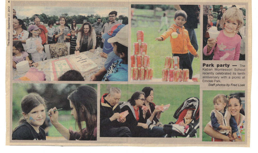 Kaban Montessori in Mississauga celebrates 10th year with a picnic, games, festivities and lunch at the park