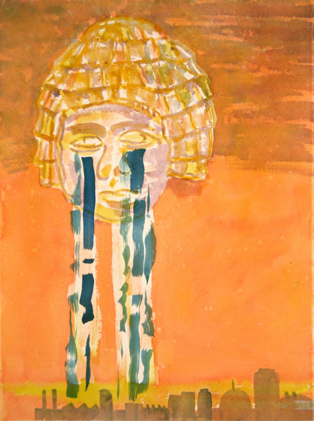 """City Tears , 30x22"""", 2002"""