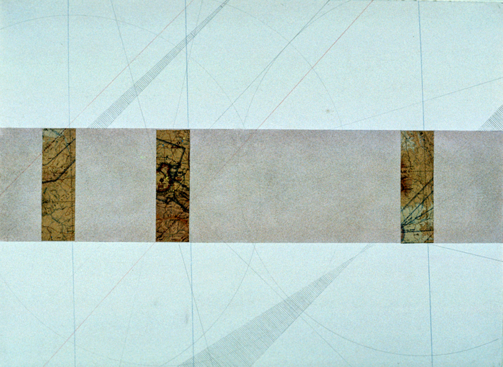 "Untitled Plan,  22x30"", 1975"