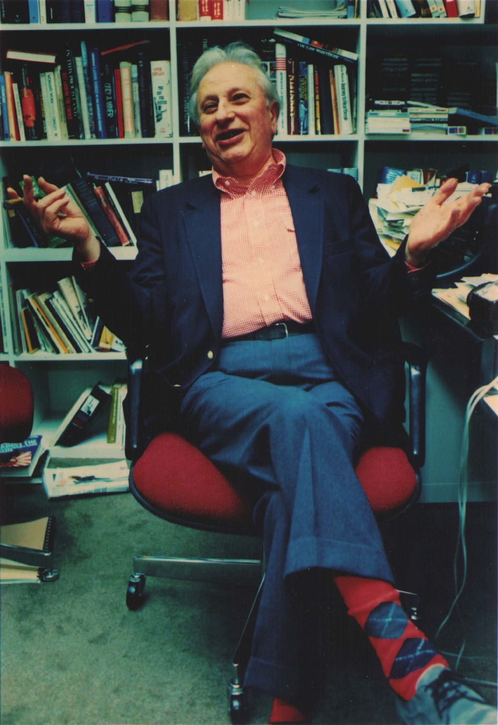 Studs Terkel in his office
