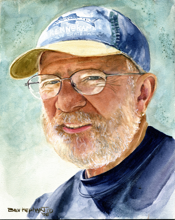 Portrait of Mel Goldberg by Bev Kephart