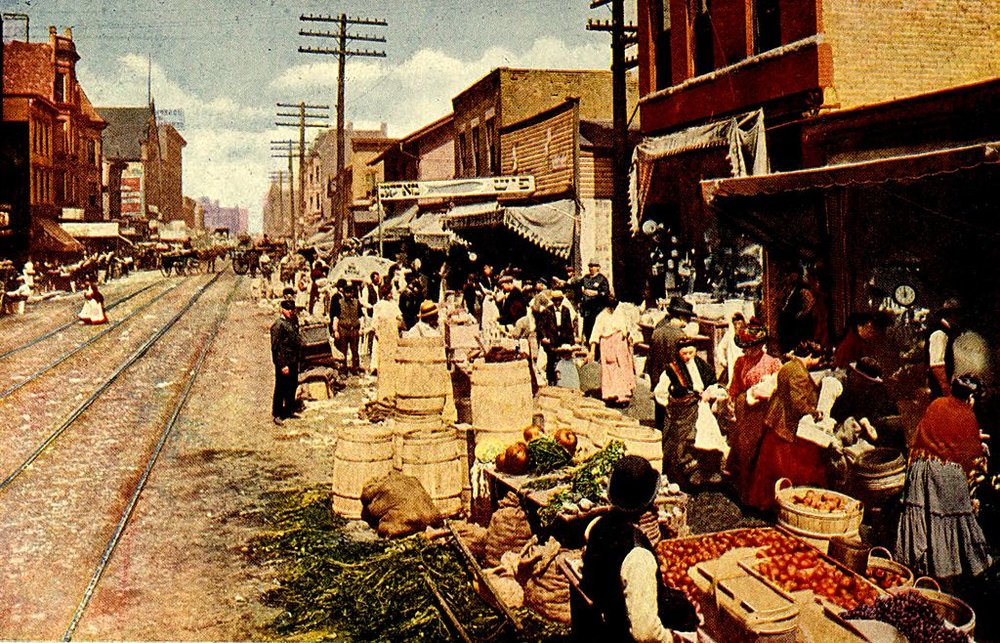 Maxwell Street, ca. 1908