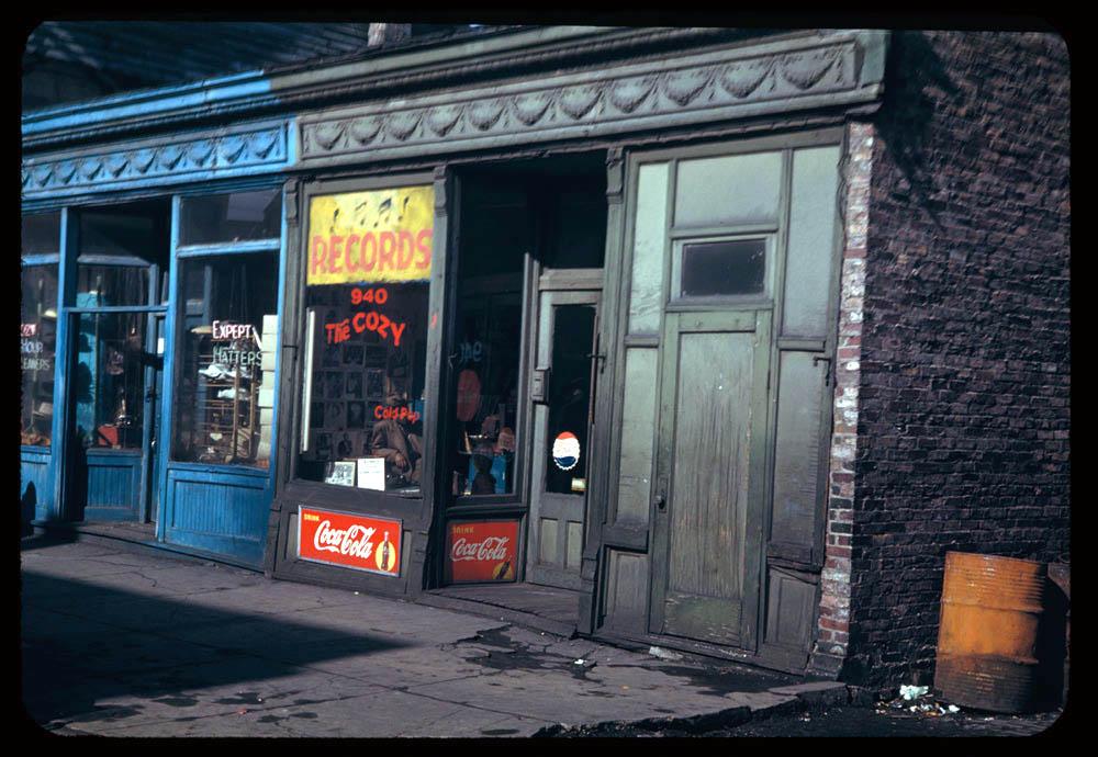 Maxwell Street Shops, 1949