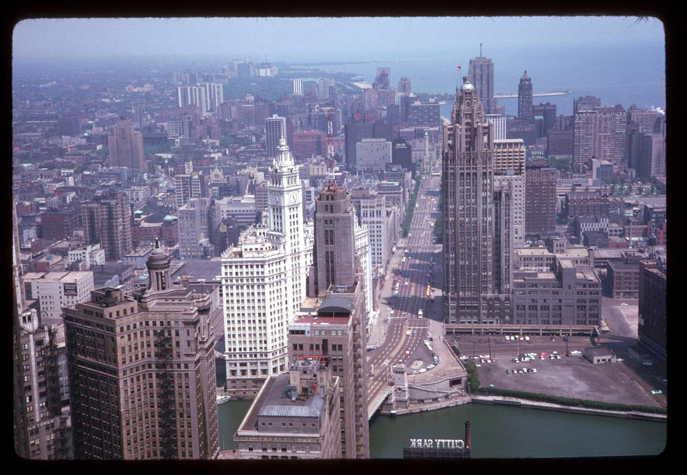 View from top of Prudential Building, looking north, 1963.