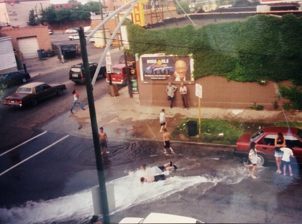The view from Joshua Salzmann's window, summer 2001