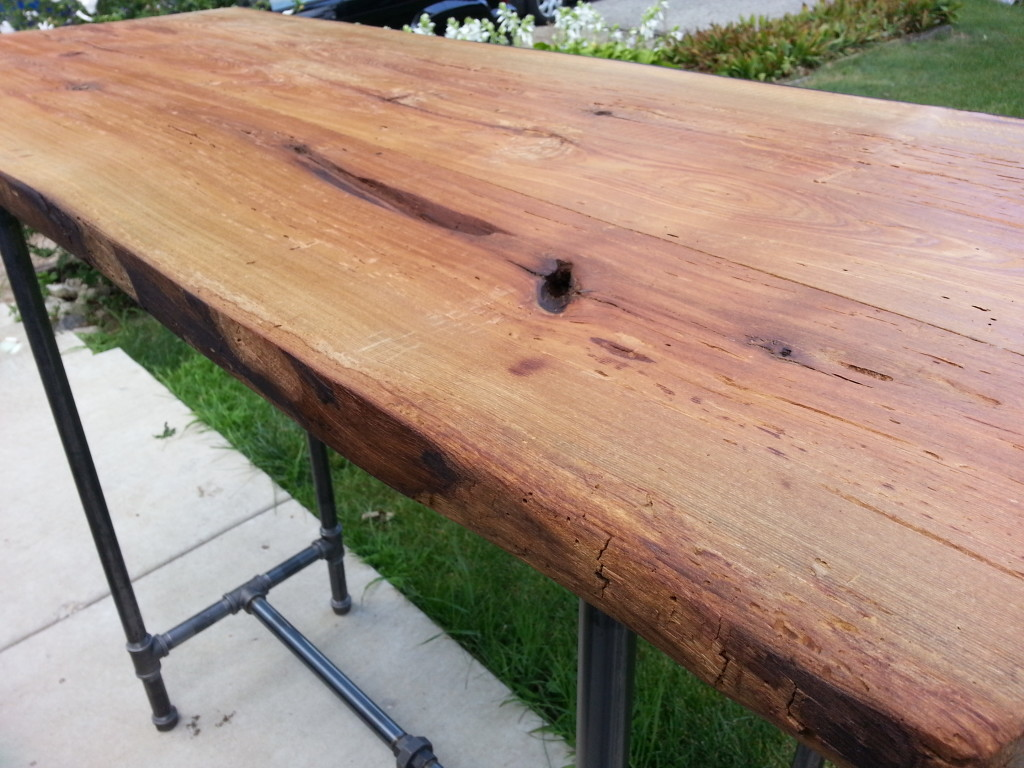 Reclaimed Barn Wood Standing Desk