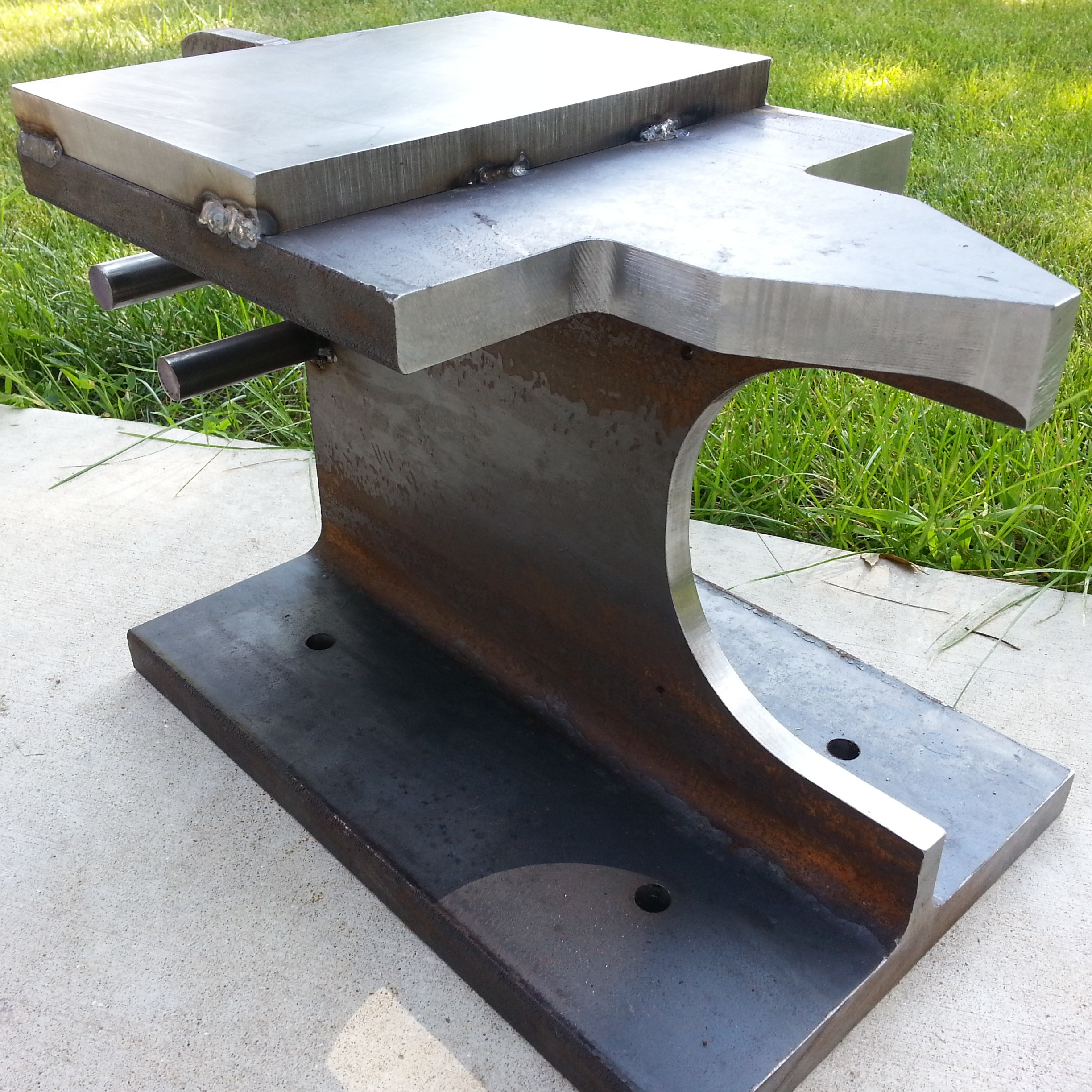 DIY, Homemade Blacksmithing Anvil - Virgil Aurand