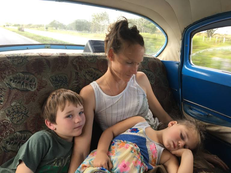 Kristin & kids, cuba.JPG
