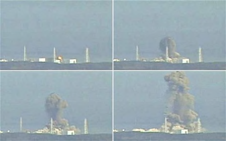 Fukushima Dai-ichi during explosion of reactor building due to hydrogen buildup. (Reuters, 2011)(2)