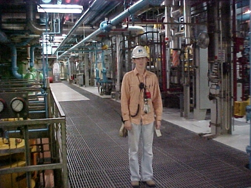 Me in the Diablo Canyon Power Plant Turbine Building (Arellano, 2004)