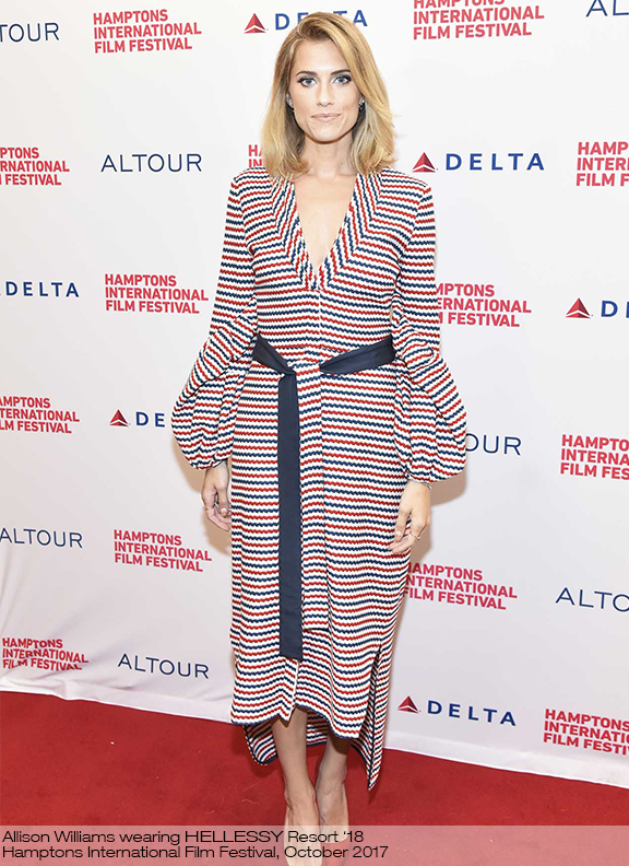 Allison Williams wearing Hellessy Resort '18