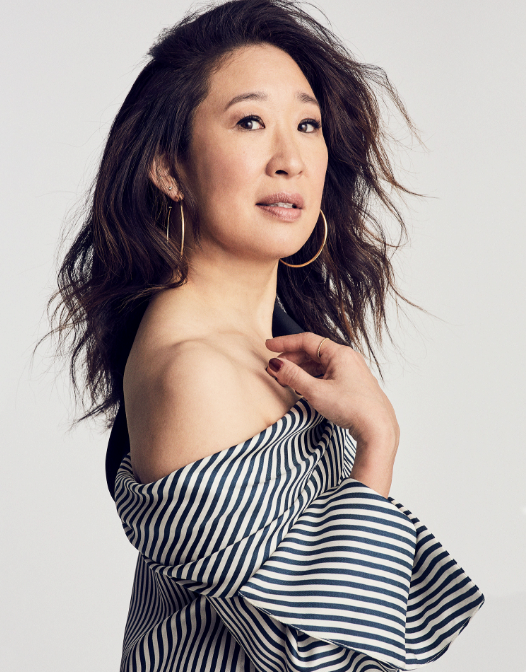 Sandra Oh in the Hellessy AW17 Calla Top