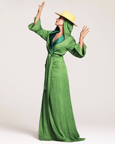 Tracee Ellis Ross wearing the Hellessy Resort 19 Blake Robe in Elle Canada