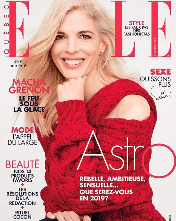 The R19 Melody knit featured on the cover of ELLE Canada