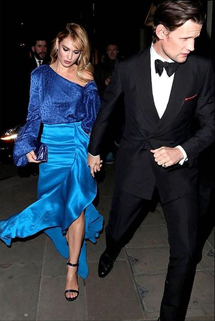 Lily James wearing the R18 Sigrid dress