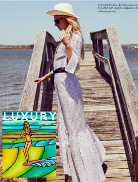 The SS18 Harley dress feature in Luxury Magazine