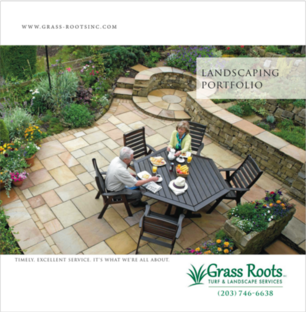 Sales brochure and portfolio for landscaping and outdoor living companies