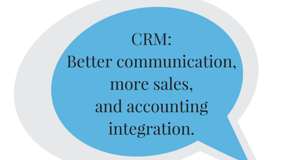 Quickbooks isn't a CRM, and if used effectively, a real CRM can provide increased lead generation opportunities, along with other benefits.