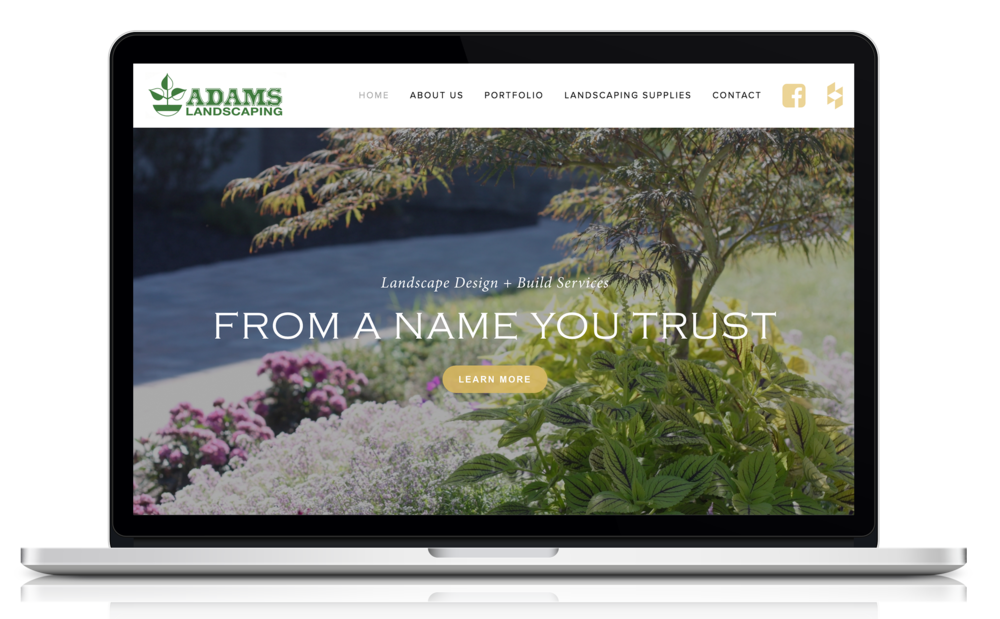 Website Redesign for Adams Landscaping in the Hudson Valley region of NY.