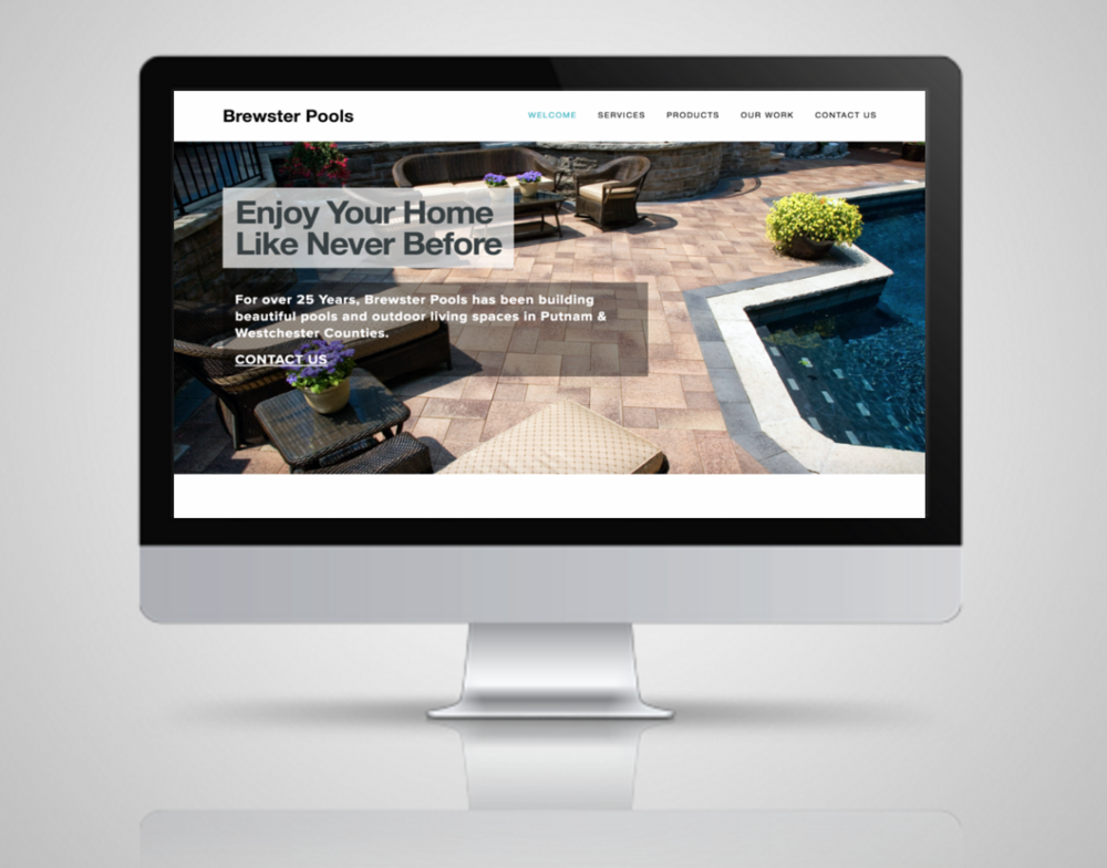 AFTER:  NY Pool Builder gets a new, responsive website design.
