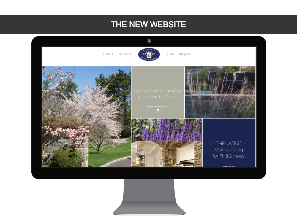 Fairfield House and Garden website redesign in Bedford Hills, NY