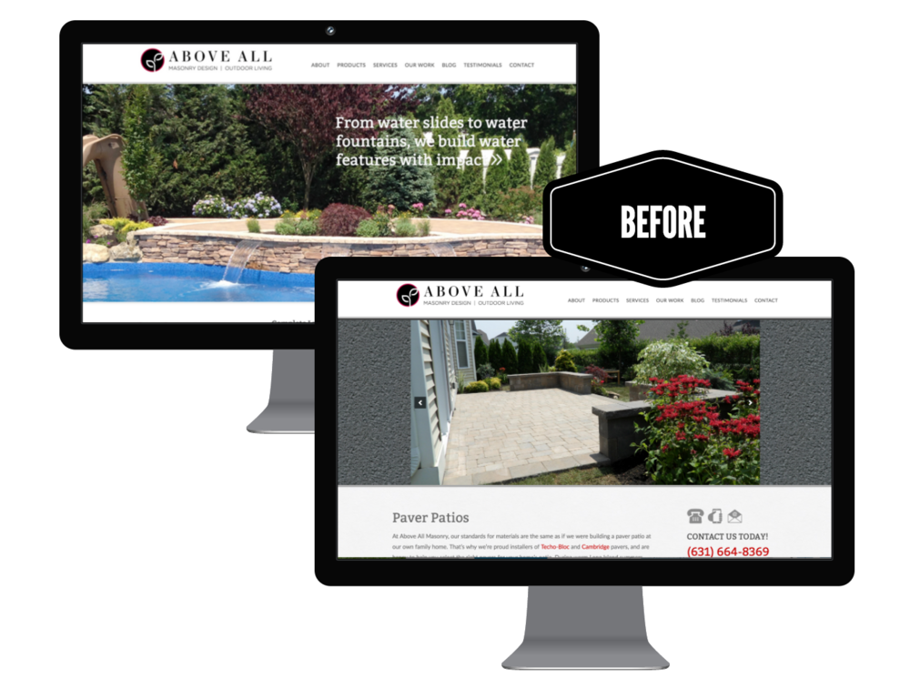 website redesign of a landscaping company in long island, ny - the before picture