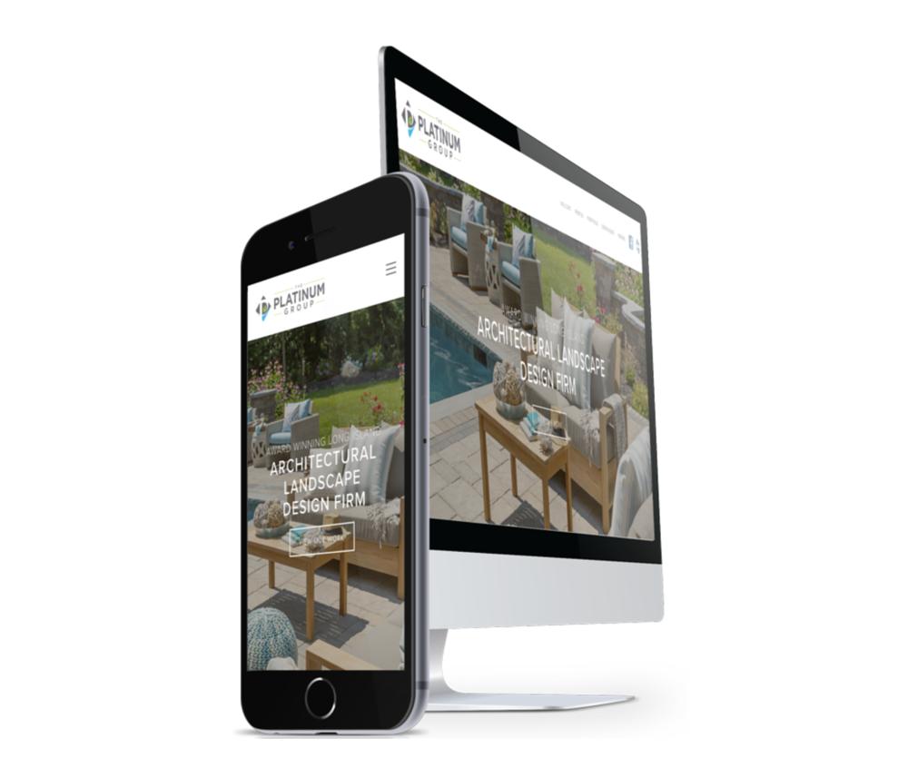 website design for unilock authorized contractors
