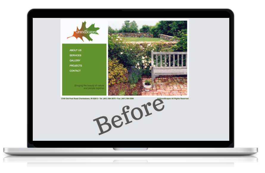 new website design for landscaping company in rhode island