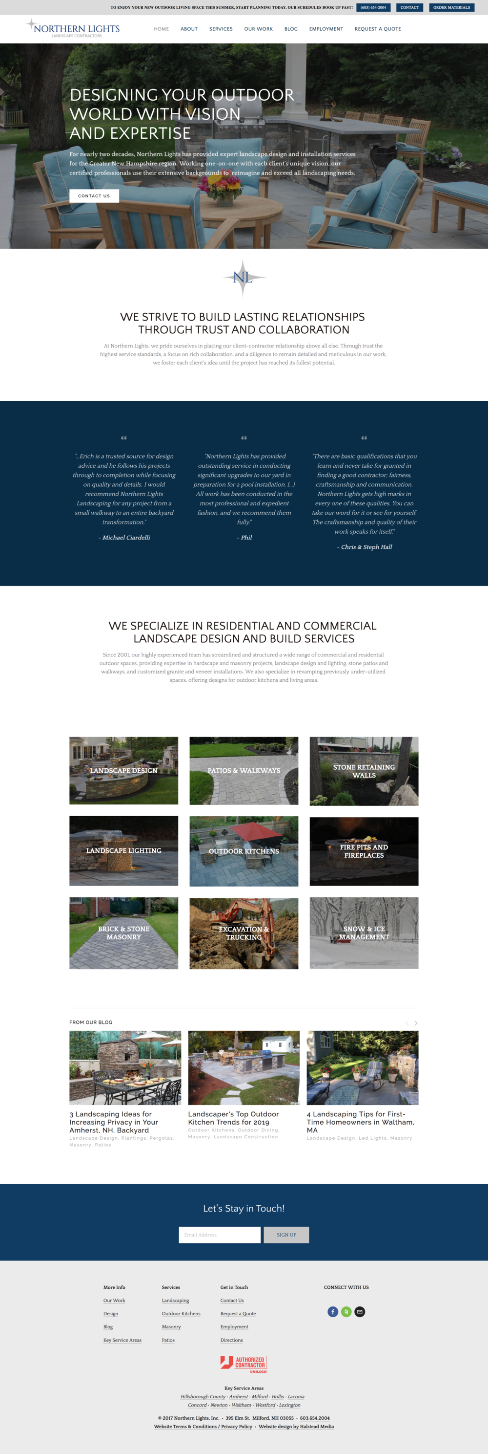 New Hampshire landscape company gets a new website