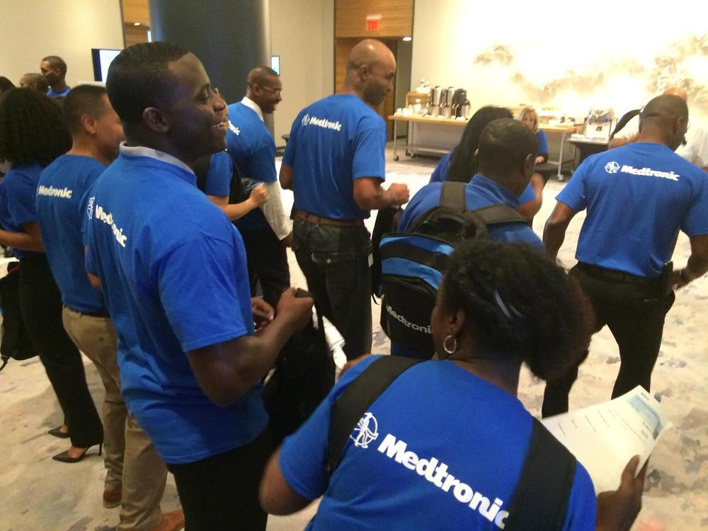 CEO/Founder Eric Mahmoud and volunteers from Medtronic's Black Employee Network - The African Descent Network (ADN)!