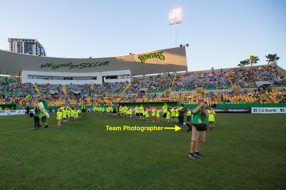 Tampa Bay Rowdies Team Photographer Matt May.