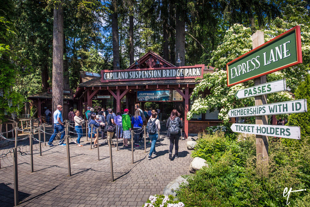Entrance to Capilano Suspension Bridge Park. © Eric Tillotson