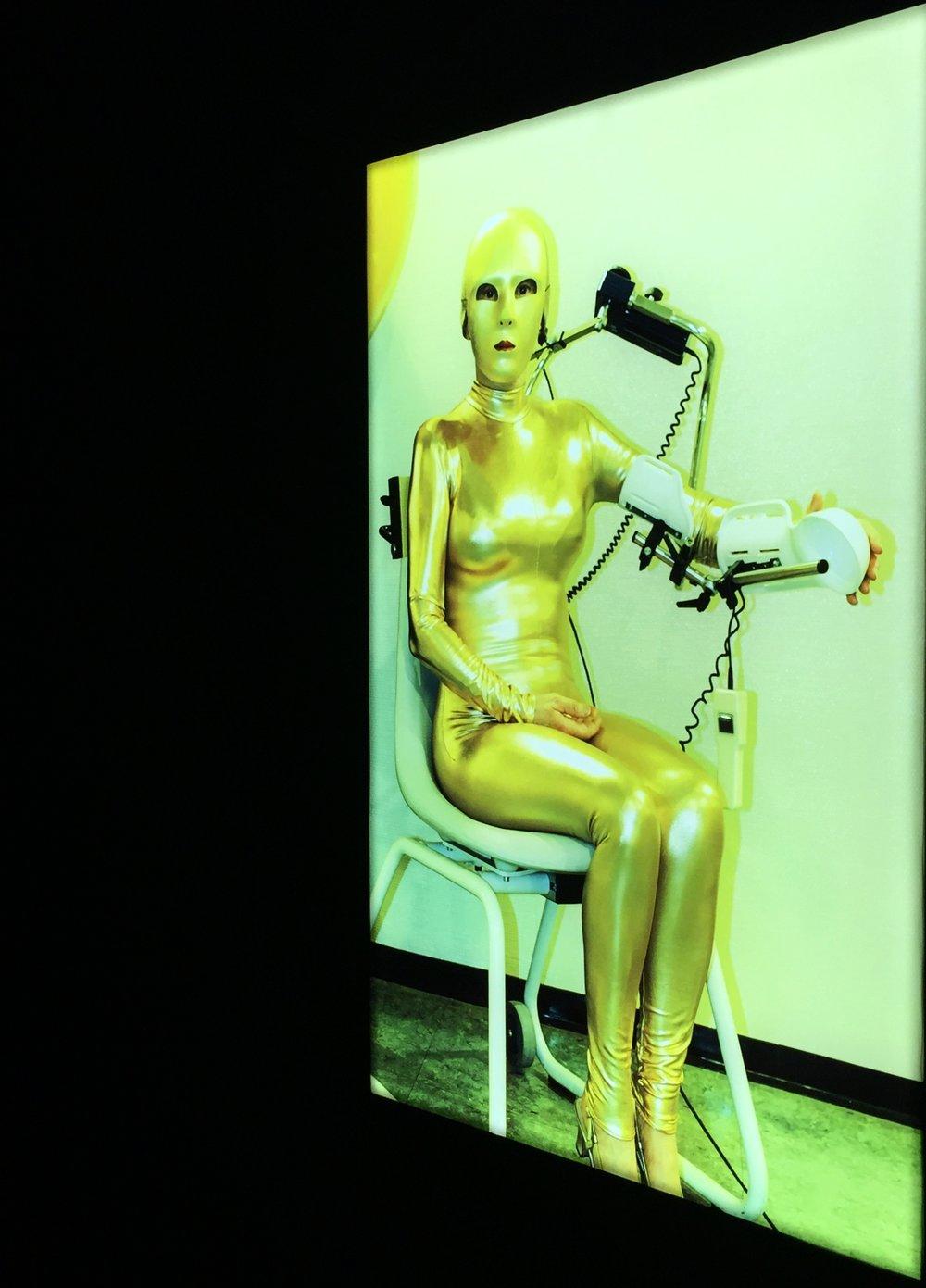 Selbstporträt in gold