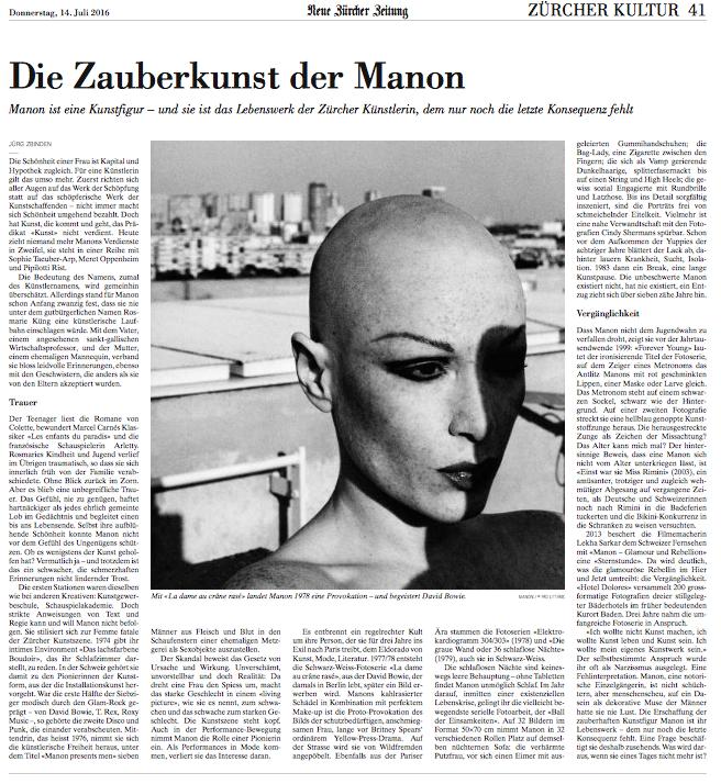 Neue Zürcher Zeitung 2016