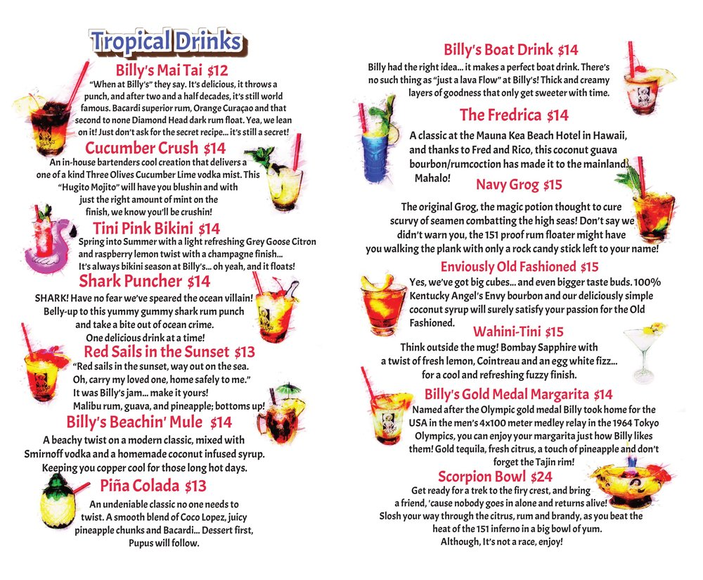 Billy's at the Beach Newport Beach Cocktail Menu 2018.jpg