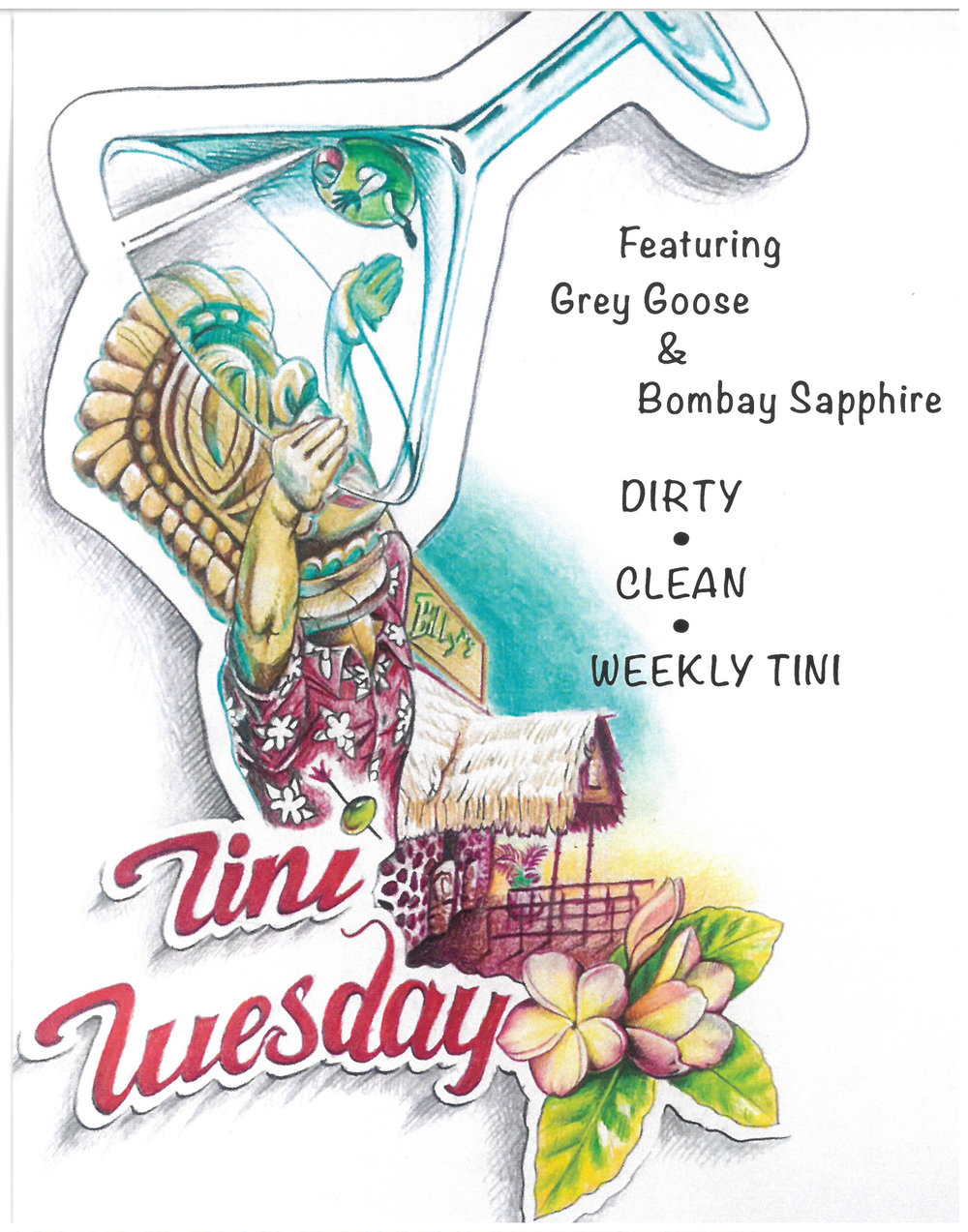 Billy's at the Beach Newport Beach 'Tini Tuesday