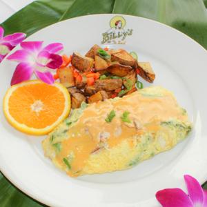 Billy's at the Beach, Newport Beach, Brunch, Crab & Asparagus Omelette.jpg