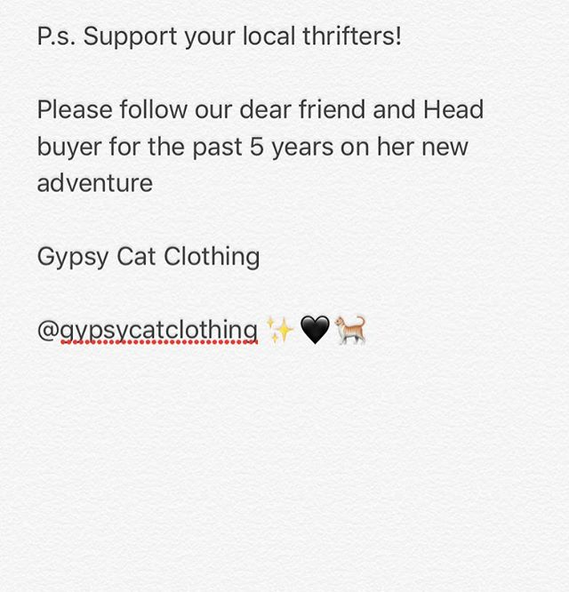Keep thrifting y'all 🖤✨@gypsycat_clothing #shoplocal #shopsmall #thrifting #northpark