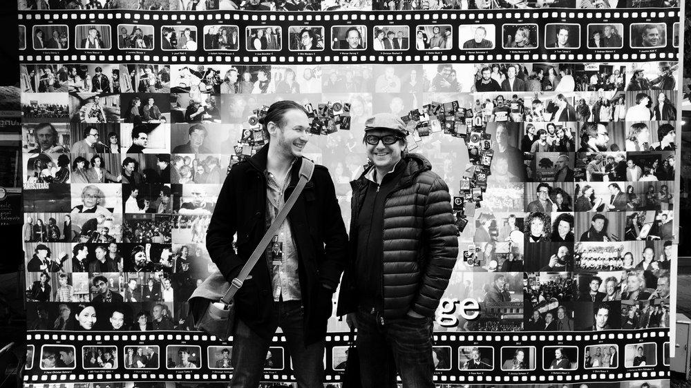 James & Leo  At the Hof International Film Festival, Germany.