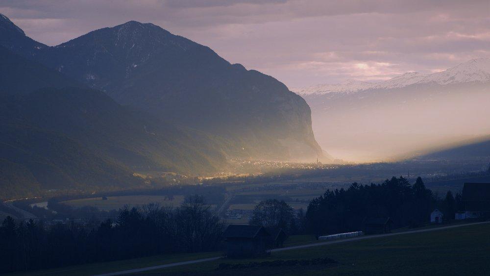 Zirl, Tyrol  Leo's home village, at dawn.