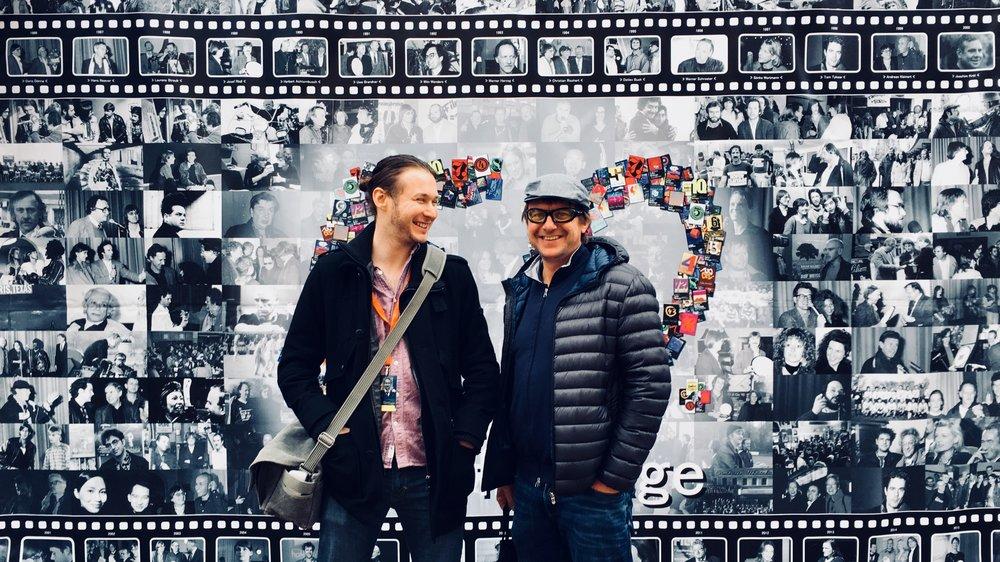 Director, James Stier  & Producer Leo Kaserer at Hof Festival, Germany
