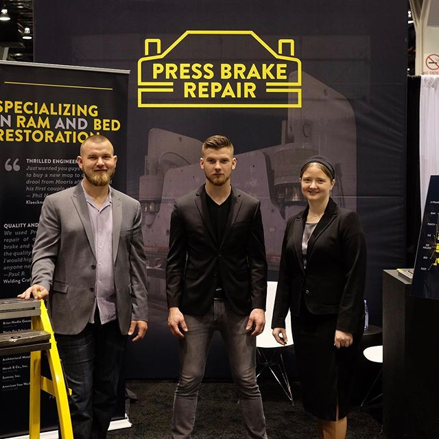 David, Doron, and Diesha are here to help you learn everything you need to know about press brake resurfacing. #fabtech2017 #fabtech #pressbrakerepairatfabtech