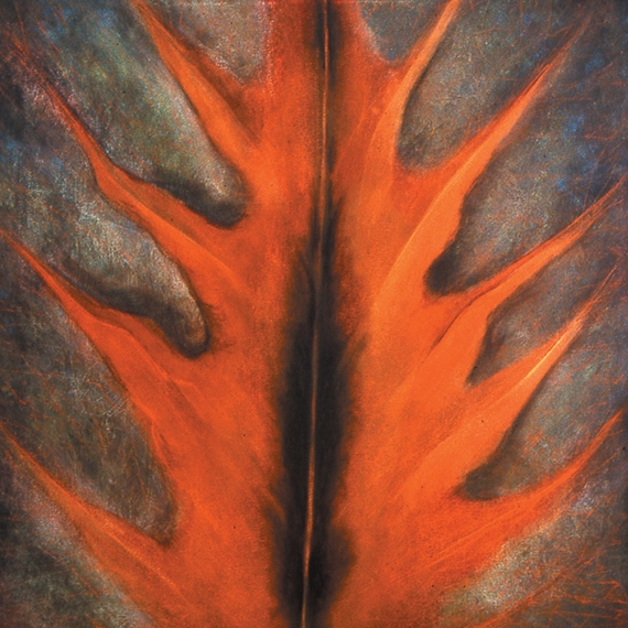 COPPER LEAF   40 x 40 inches, oil on canvas, 1999