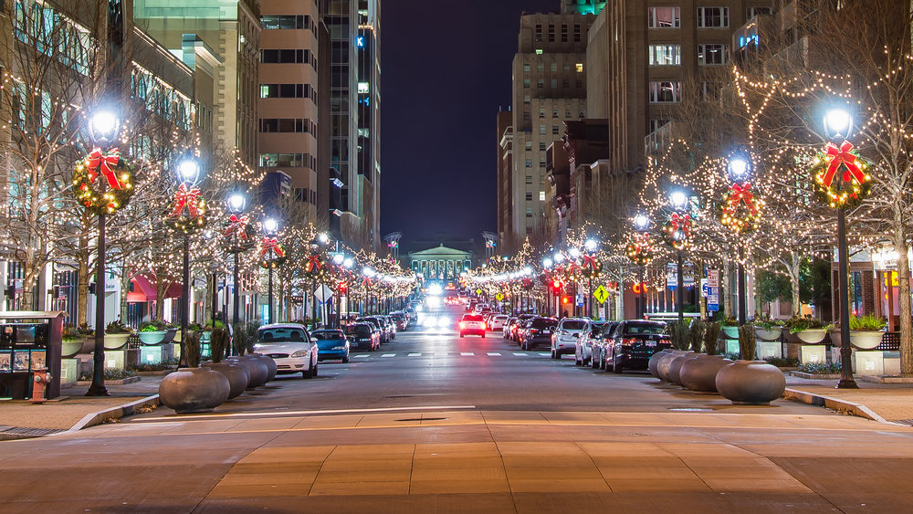 Photo: Bill Dickinson, City street holiday decorations - Raleigh, NC USA via Flickr.